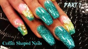 P1 HOW TO COFFIN SHAPED NAILS