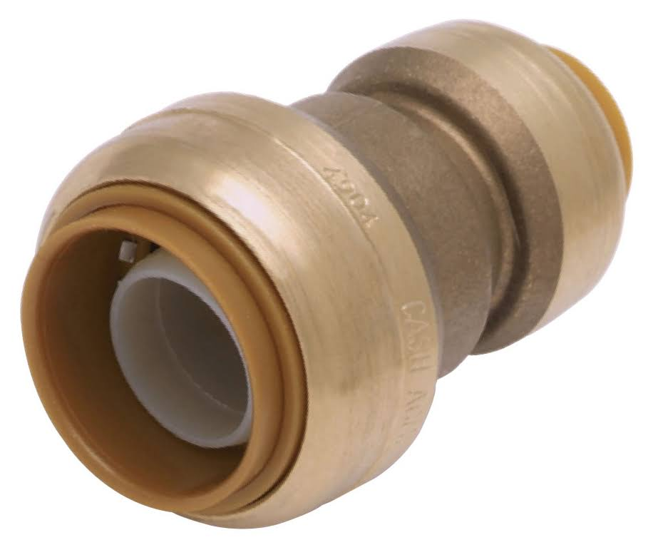 "Sharkbite Push-to-Connect Reducer Coupling - Brass, 0.75""x0.5"""
