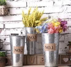Retro Metal Planter Flowerpot Vintage Rustic Nostalgia Iron Buckets Garden Pots Tin Planters Bucket Storage Container