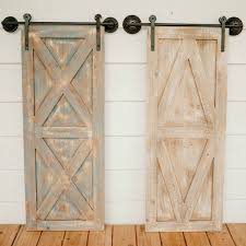 Rustic Barn Door Wall Decor Set Of 2