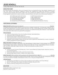 Resume Examples Australia Chef Example Templates Sample Cook Of Line Good For
