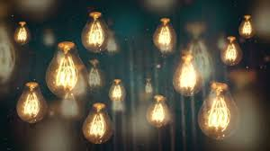 moving vintage light bulbs background motion loops hd
