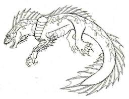 Lizard Monster Coloring Pages