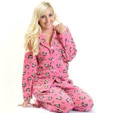 ladies summer sleepwear ladies monkey cozy fleece pajama set buy