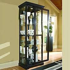 amazon com pulaski curio 30 by 13 by 76 inch black kitchen