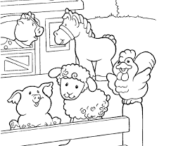Free Coloring Pages Of I See A Farm