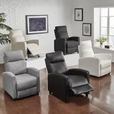 Saipan Modern Fabric And Leather Recliner Club Chair INSPIRE Q