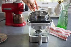 Before You Use The Cold Brew Coffee Maker Go Ahead And Assemble It By Placing Stainless Steel Steeper Inside Carafe This Part Of Machine Is