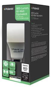 polaroid 10 watt a19 800 lumen led light bulb 3000 k at menards