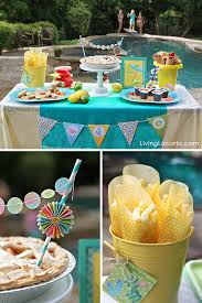 Pool Party Ideas Dessert Table Fun Food Printables By Amy Locurto LivingLocurto