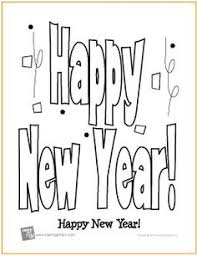 Free Printable Happy New Year Coloring Page