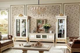 wohnzimmer schrank barock rokoko sideboard 2x vitrinen sideboard lowboard e62