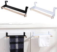 handtuchhalter handtuchhalter schrank handtuch bar schiene über tür haken küche handtuch badezimmer schublade weiß free size