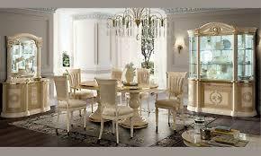 wohnzimmer esszimmer komplett set beige hochglanz klassische italienische möbel
