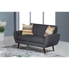 100 Modern Living Room Couches Shop Alayna Linen Loveseat Free Shipping Today