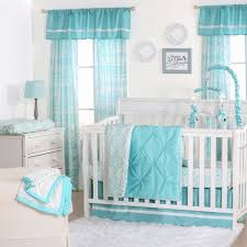 Blue Medallion Curtains Walmart by The Peanut Shell 3 Piece Baby Crib Bedding Set Teal Blue Pintuck