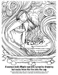 Sensational Iroquois Coloring Pages 20 Woodland Indian Educational Programs