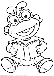 Click To See Printable Version Of Baby Scooter Is Reading A Book Coloring Page
