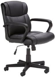 Mainstays Desk Chair Black by Amazon Com Amazonbasics Mid Back Office Chair Black Kitchen