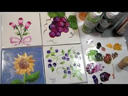Painting Ceramic Tiles with Folk Art Enamels