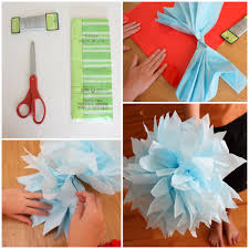 Flower Art And Craft Ideas Beautiful Tissue Paper Crafts For Adults Kids