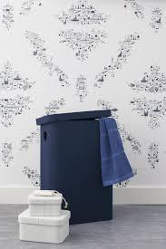 panier a linge bleu aquanova panier à linge imago bleu foncé 78 small bath living