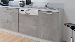 küche küchenzeile beton grau seidenmatt mit geräten