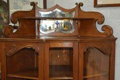 antique late 1800 s victorian mahogany walnut corner display