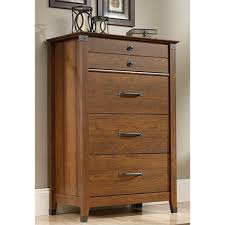 Saunders Shoal Creek Dresser by Sauder Carson Forge 4 Drawer Washington Cherry Chest 415117 The