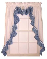 Pink Ruffled Window Curtains by Ruffled Swag Curtains U0026 Country Ruffled Swags Window Toppers