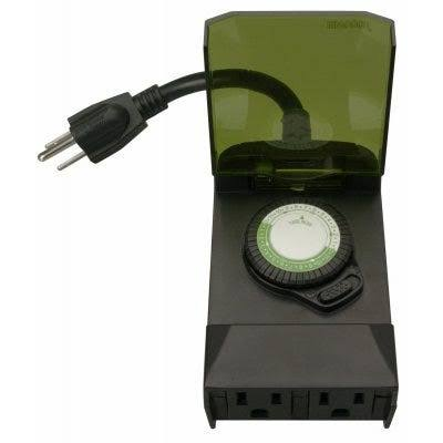 Woods Outdoor Timer - 125V, 15A, 30 Minutes Interval, 24 Hour