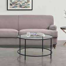 en casa couchtisch kouvola wohnzimmertisch sofatisch 84x45 5cm glastisch schwarz