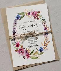 Boho Chic Bruiloft Uitnodiging Bloemen Door LoveofCreating Modern Wedding InvitationsWedding