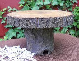 Rustic Oak Cake Stand 65