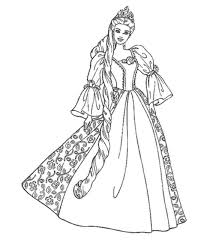 Barbie Coloring Pages Princess Kids