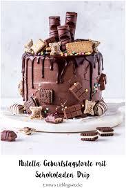 nutella drip cake in 2 varianten s lieblingsstücke