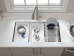 Kohler Kitchen Sink Protector by Beautiful Kitchen Sink With Dish Drainer Taste
