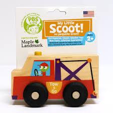 100 Kidds Trucks The Official PBS KIDS Shop PBS KIDS My Little Scoot Wooden Tow Truck