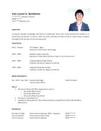 Objective For A Resume Information Technology Health Entry Level