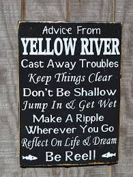 100 River House Decor Sign Advice From Quote Wisdom Rules Custom