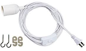 hanging light bulb cord 15 extension and on