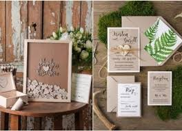 Top 12 Rustic Wedding Guest Books Botanical Invitations