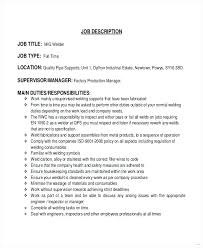 Resume Samples For Welding Jobs Packed With