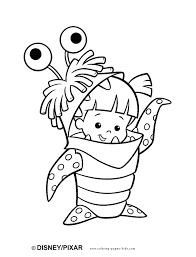 Monsters Inc Color Page Disney Coloring Pages Plate Sheet Printable