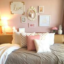 Pink And Grey Bedroom Decor Pretty Gold Dorm Room At Tech University