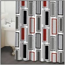 Red And Black Bathroom Rug Set by Red And Gray Shower Curtains Curtains Home Design Gray Black