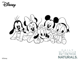 Mickey Mouse Coloring Sheet From Daily Renewal Naturals
