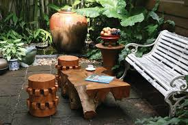 rustic contemporary wooden stools design for home outdoor
