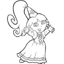 Dora As A Fairy Princess Ballet Dancer Coloring Pages