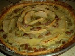 dessert au pomme rapide la tarte pomme rhubarbe une recette facile
